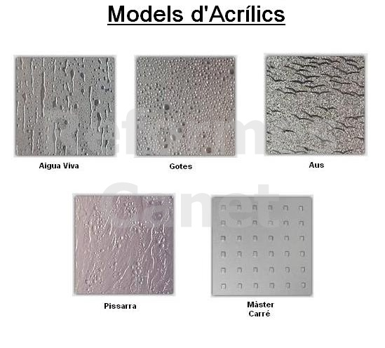Models dibuixos acrílics